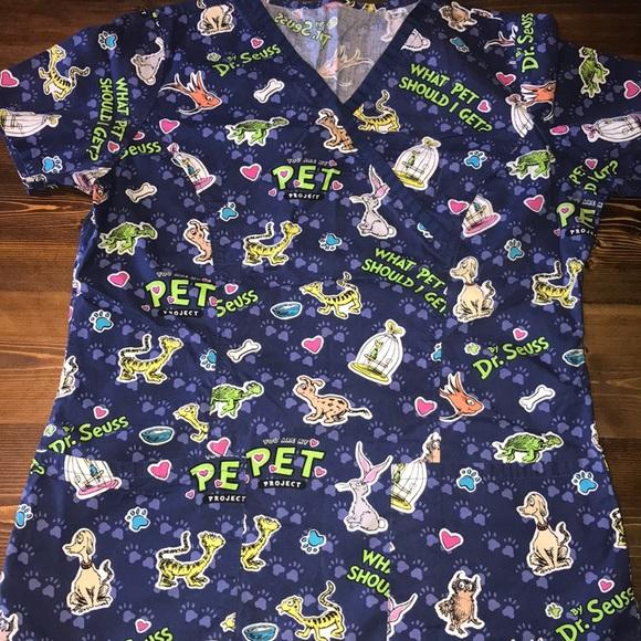 a571d0b32e7 Tops | Small Dr Seuss What Pet Should I Get Scrub Top | Poshmark
